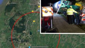 75 Tonnen umgekippt! Fahrer mit Schwertransporter verunglückt – Autobahn wegen extremer Bergung gesperrt