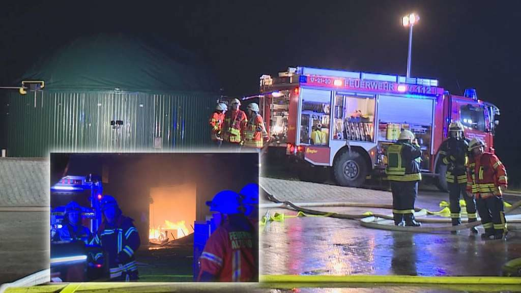 Extreme Explosions-Gefahr: Biogasanlage stand in Flammen – 230 Einsatzkräfte kämpften gegen Zeit